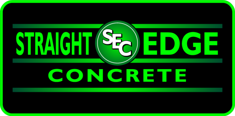 straight edge concrete logo medium